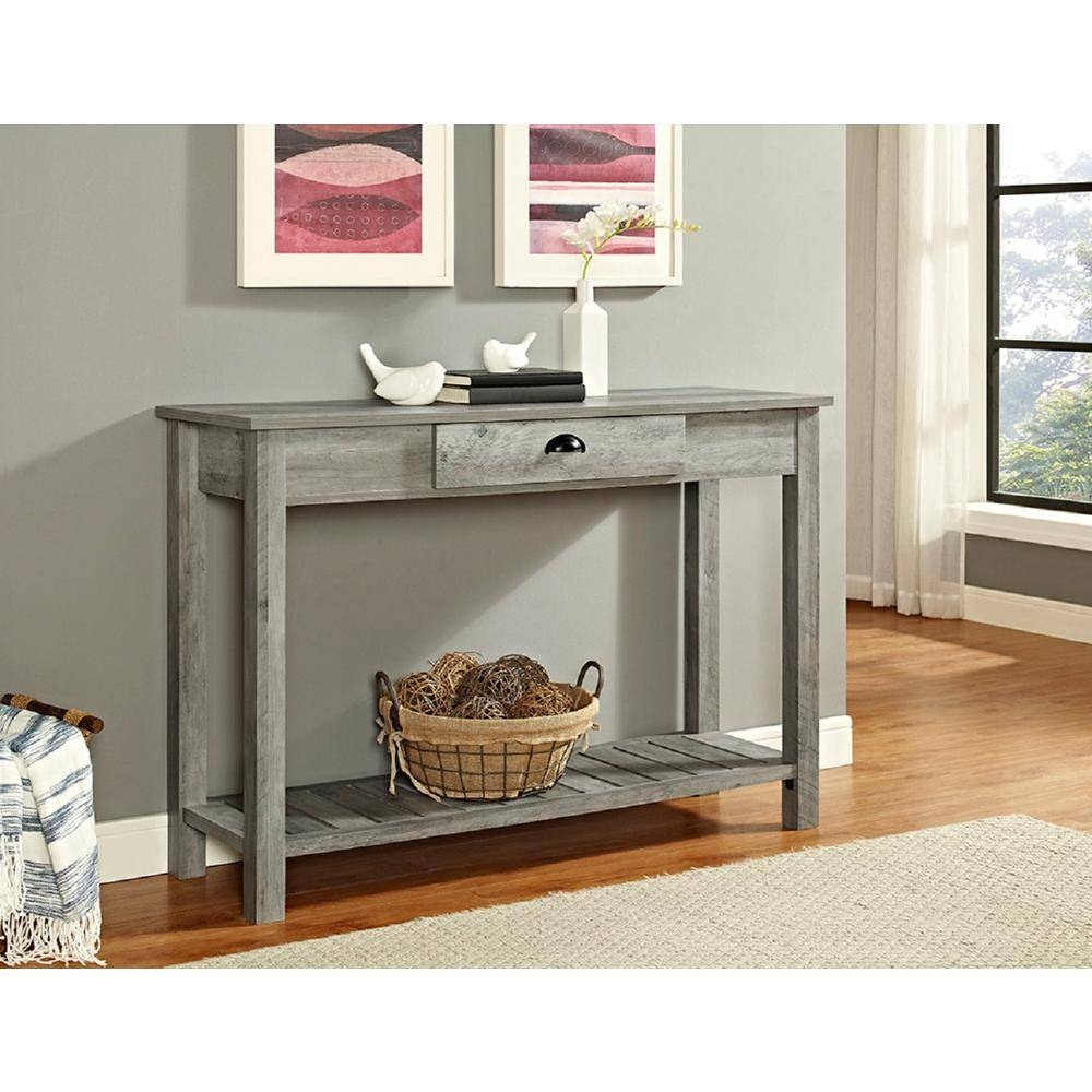 Walker Edison Furniture Company 48 In. Country Style Entry Console regarding Country Sofa Tables (Image 15 of 15)