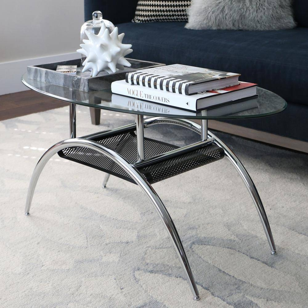 Walker Edison Furniture Company Glass Storage Coffee Table-C42Bm pertaining to Glass And Black Metal Coffee Table (Image 15 of 15)