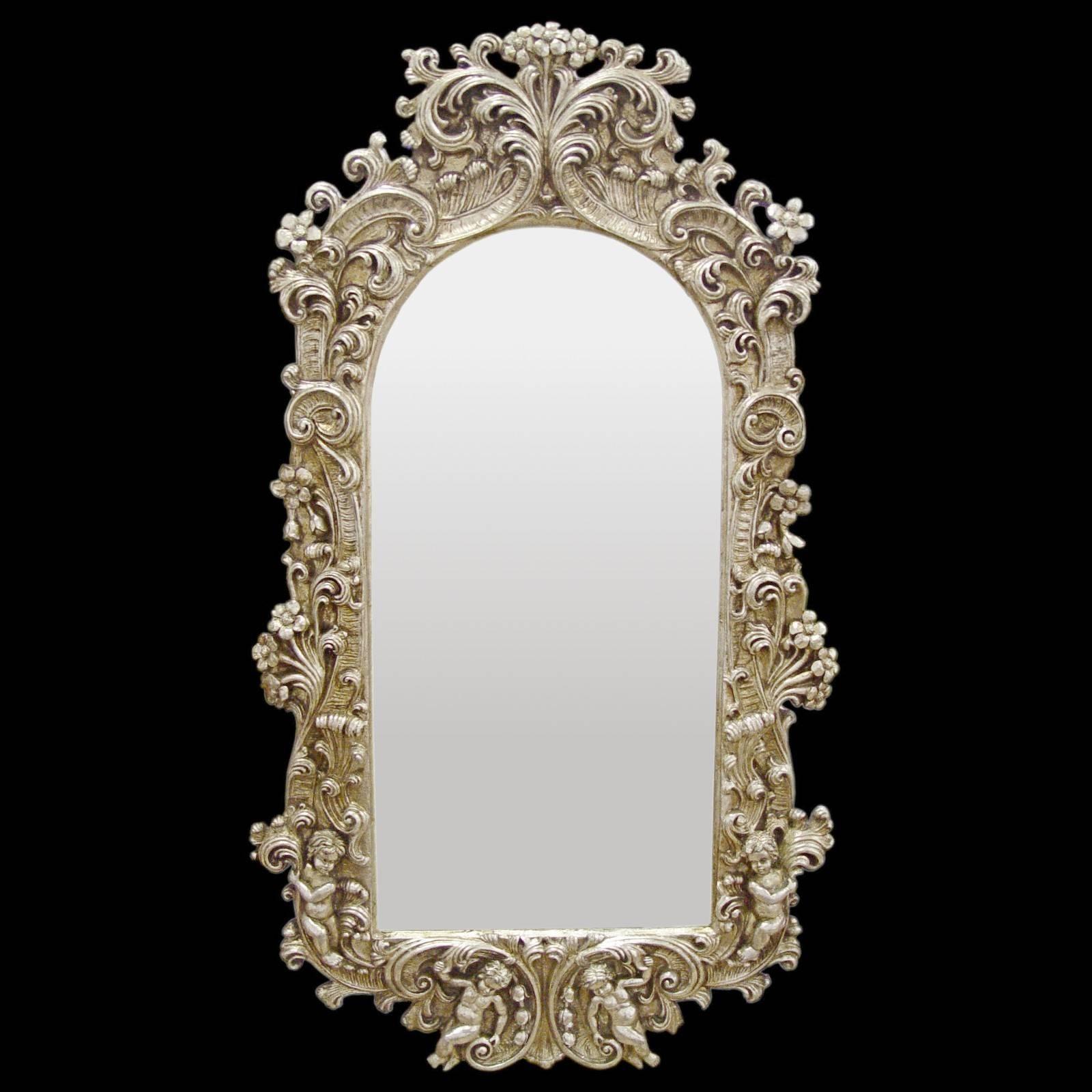 Wall Furniture Baroque Splendor Mirror Frame Baroque Silver regarding Baroque Wall Mirrors (Image 14 of 15)