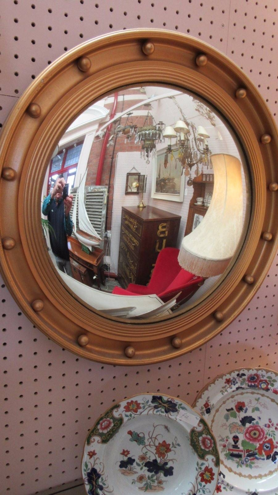 Wall Ideas: Convex Wall Mirror Photo. Design Decor. Large Round intended for Round Convex Wall Mirrors (Image 12 of 15)