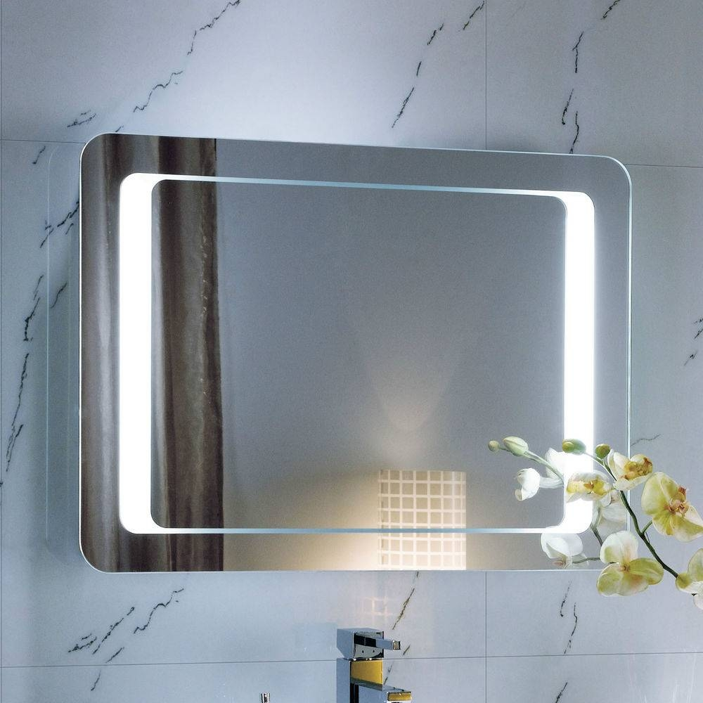 Wall Lighted Bathroom Mirror : Essential Lighted Bathroom Mirror inside Wall Light Mirrors (Image 11 of 15)