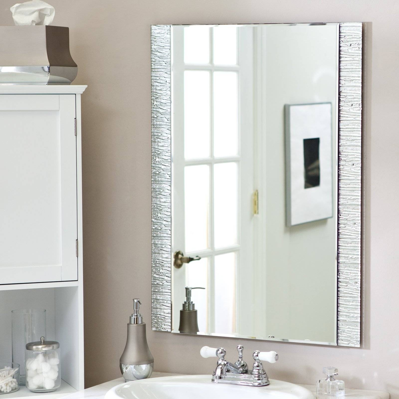 Wall Mirrors for Large Frameless Bathroom Mirrors (Image 15 of 15)