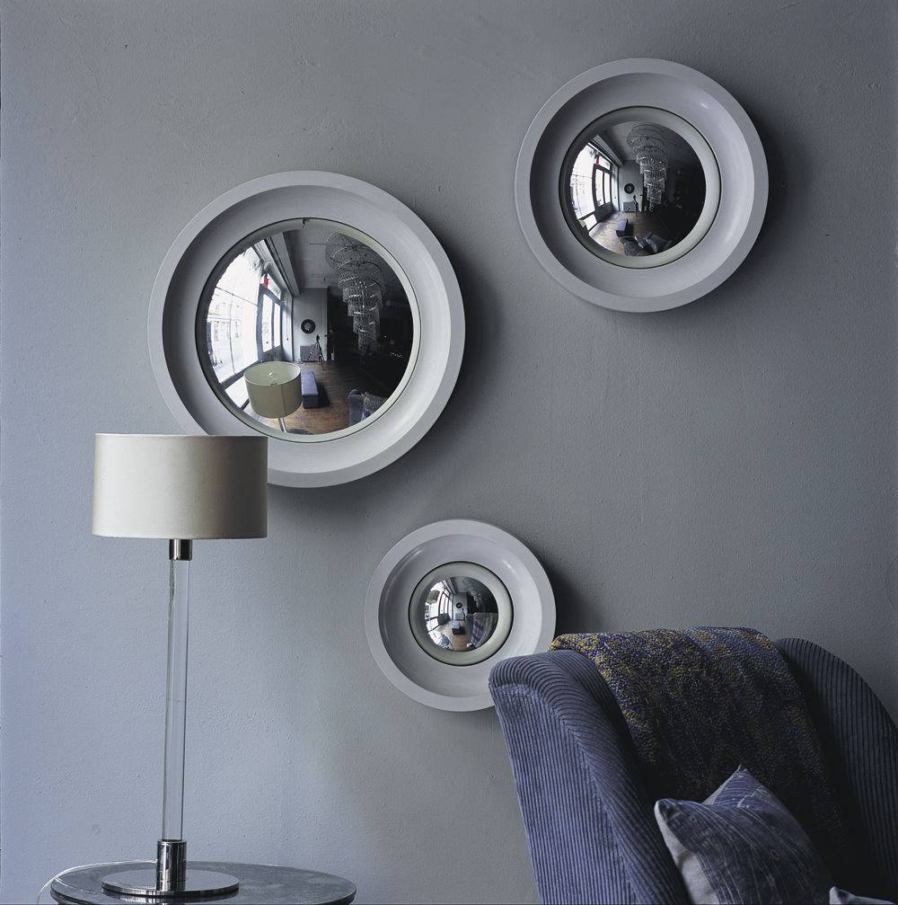Wall-Mounted Mirror / Contemporary / Round - Convex - Ochre for Round Convex Wall Mirrors (Image 15 of 15)