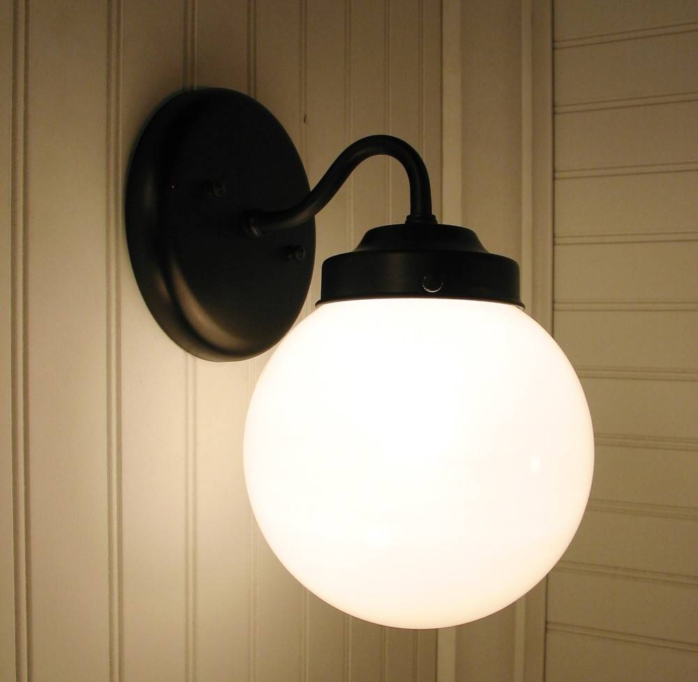 Wall Sconce Lighting Winterport Ii. Globe Light Fixture By intended for Milk Glass Lights Fixtures (Image 14 of 15)