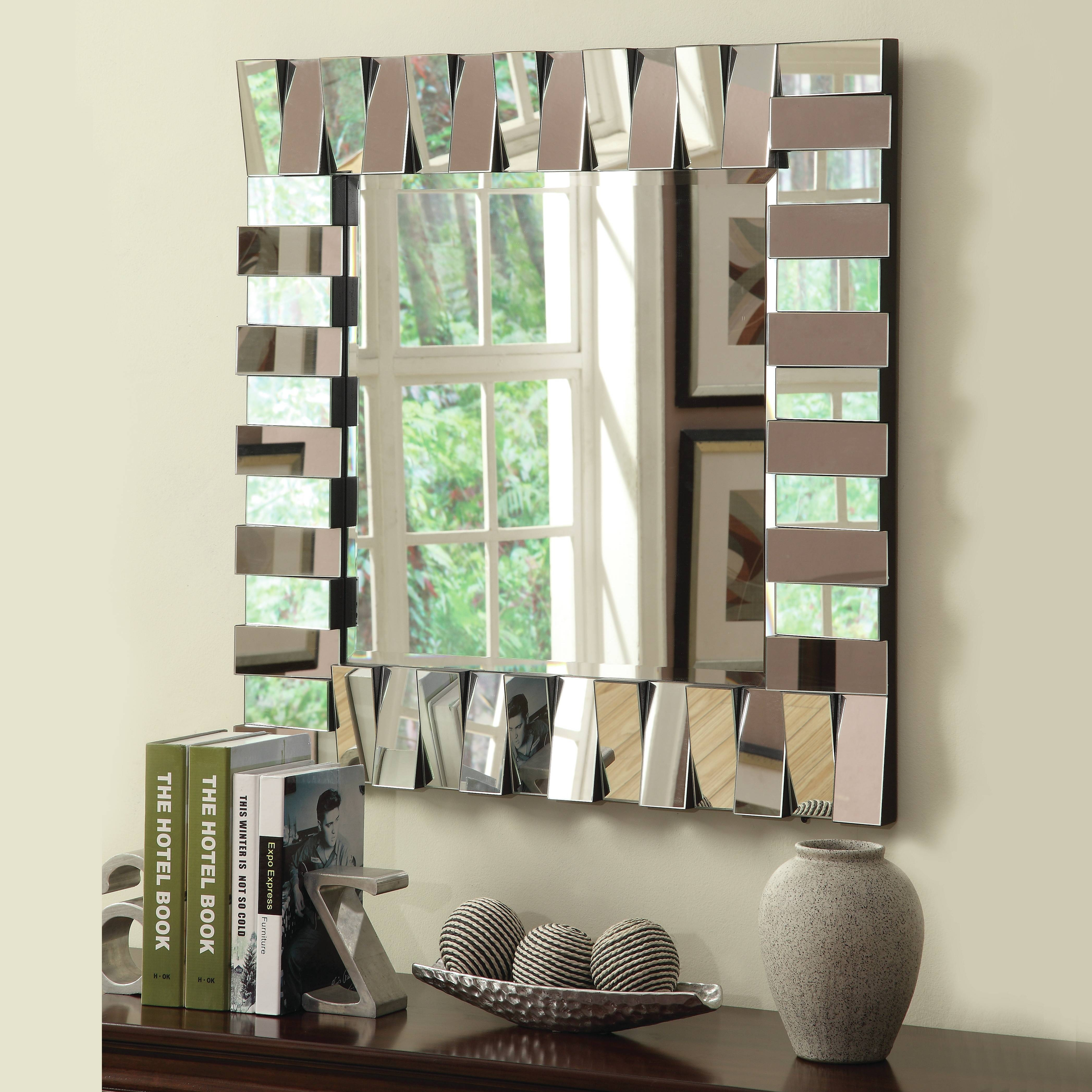 Wayfair Wall Mirrors - Wall Shelves with Big Modern Mirrors (Image 15 of 15)