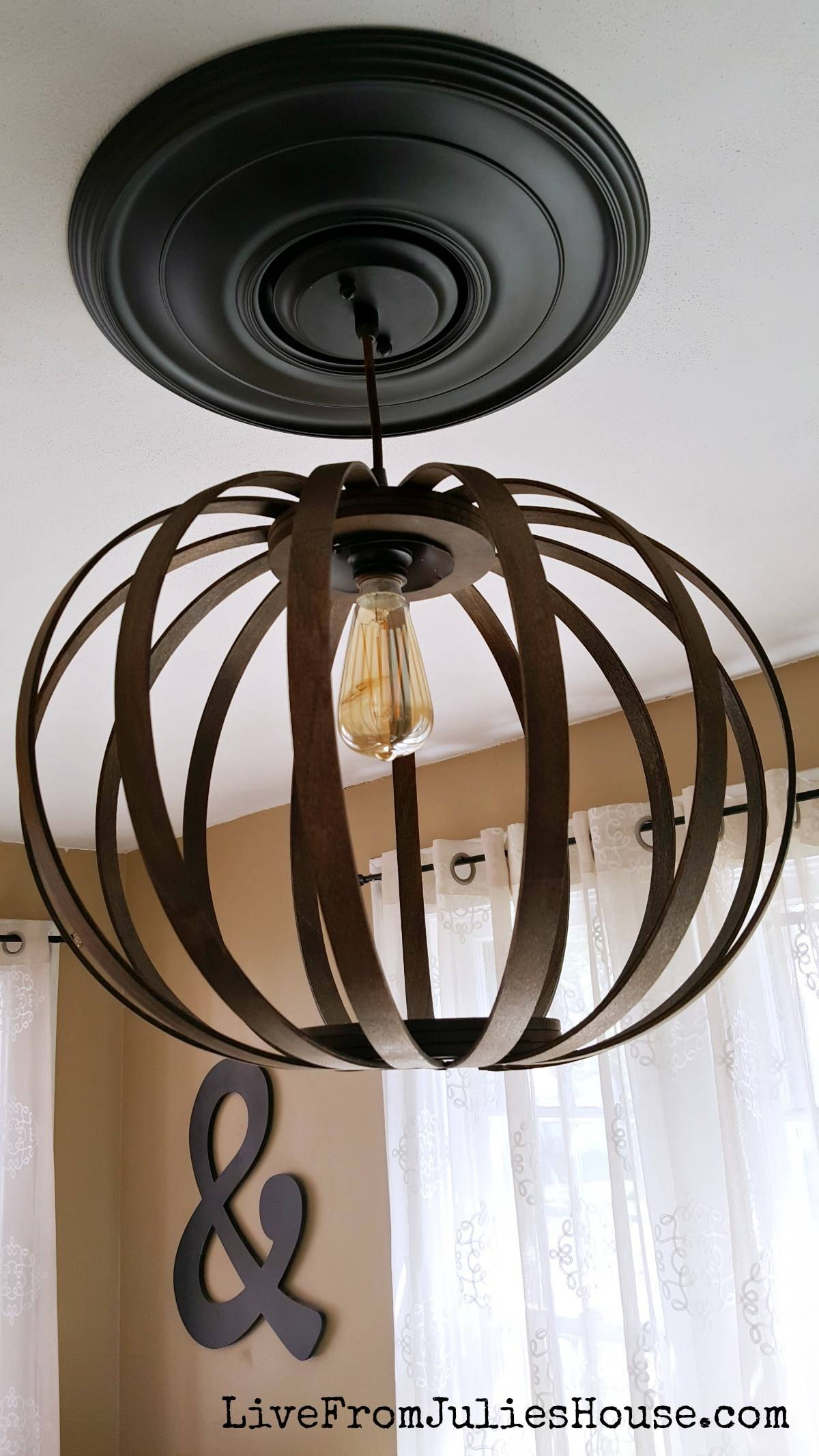West Elm Diy Bentwood Pendant Debacle - Live From Julie's House in Bentwood Lighting (Image 13 of 15)