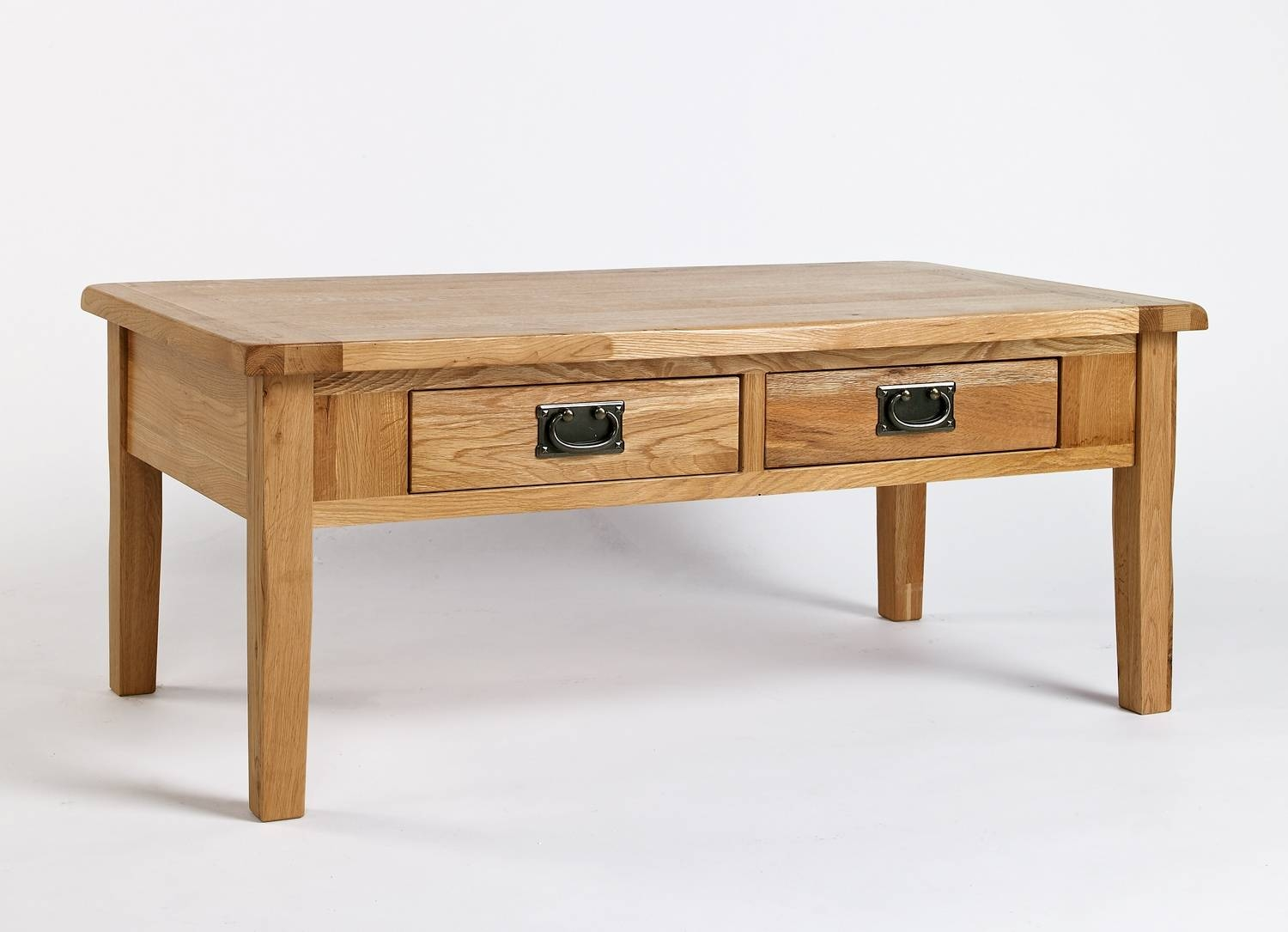 Westbury Reclaimed Oak Coffee Table With 4 Drawers (View 3 of 15)