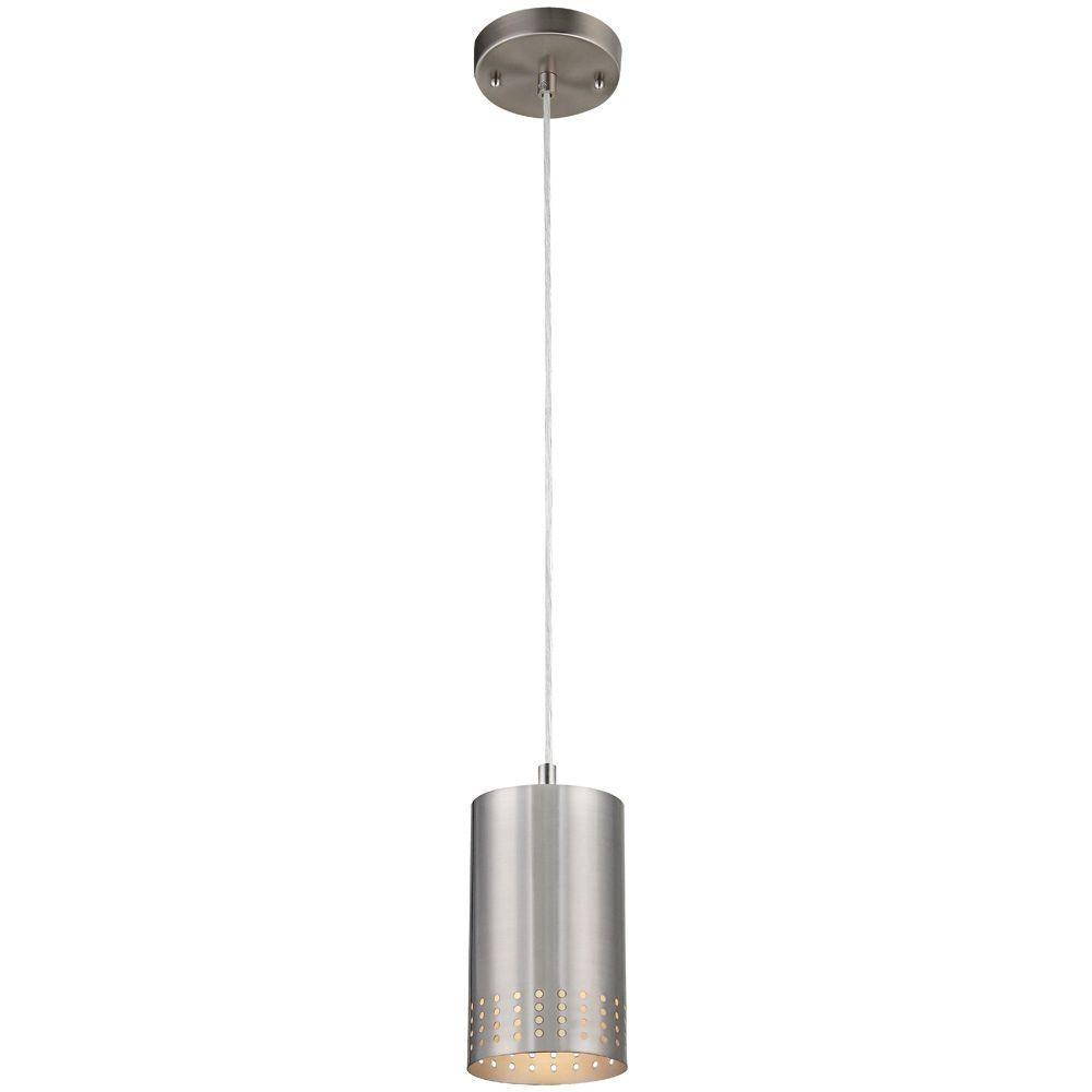 Westinghouse 1-Light Brushed Nickel Adjustable Mini Pendant With pertaining to Brushed Stainless Steel Pendant Lights (Image 15 of 15)