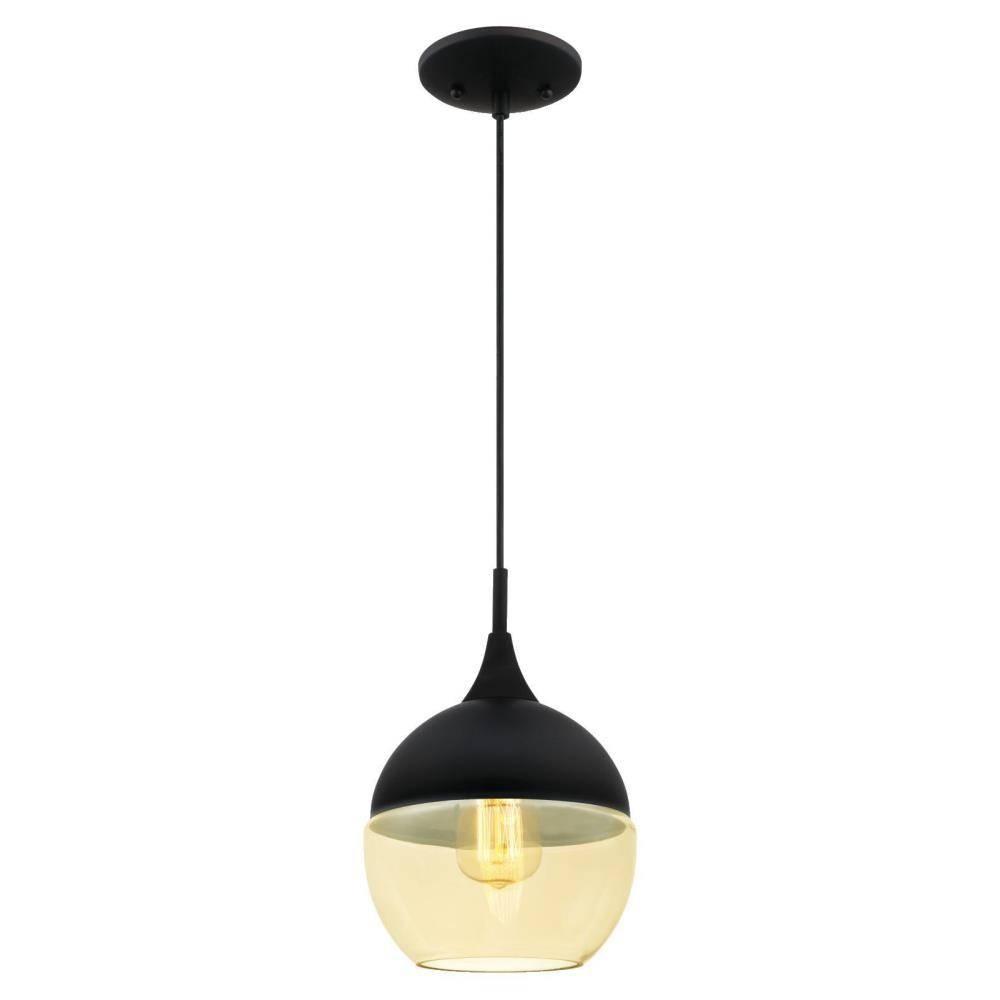 Westinghouse 1-Light Matte Black Mini Pendant-6345900 - The Home Depot within Westinghouse Pendant Lights (Image 9 of 15)