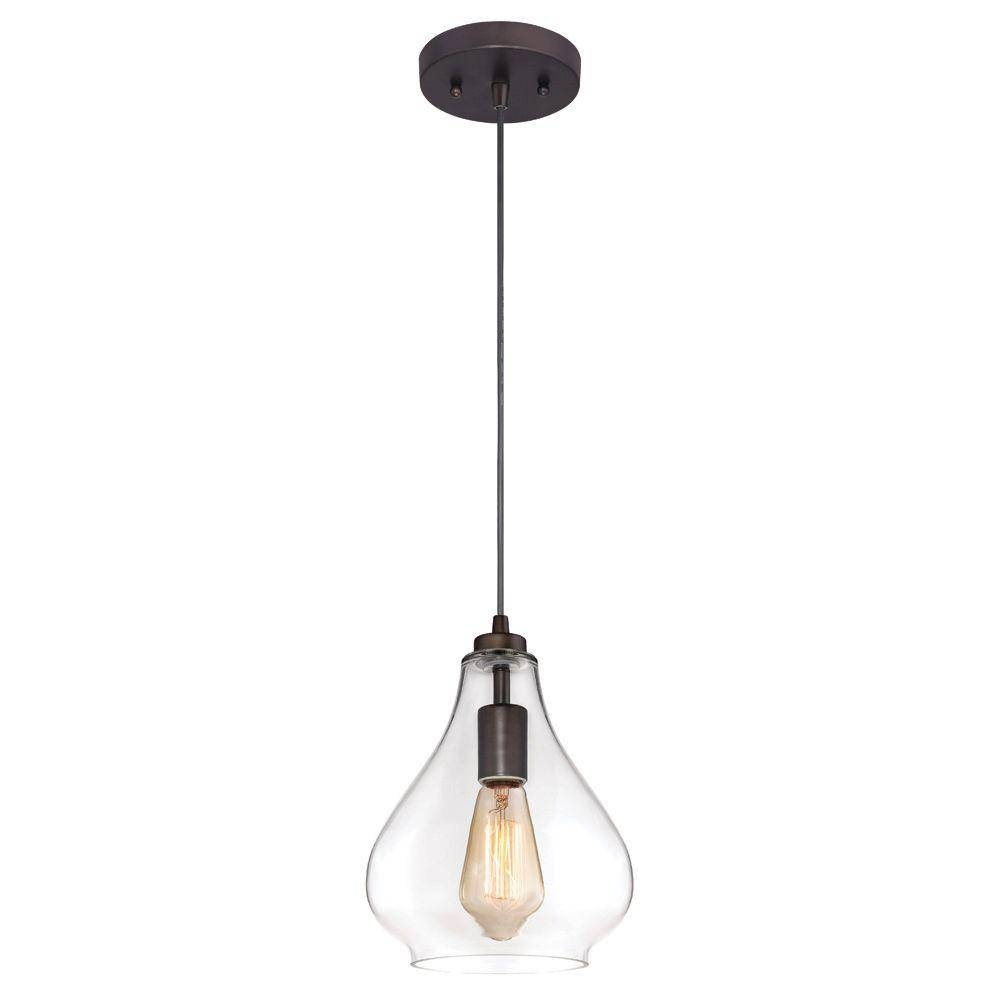 Westinghouse 1-Light Oil Rubbed Bronze Adjustable Mini Pendant throughout Oil Rubbed Bronze Mini Pendant Lights (Image 14 of 15)