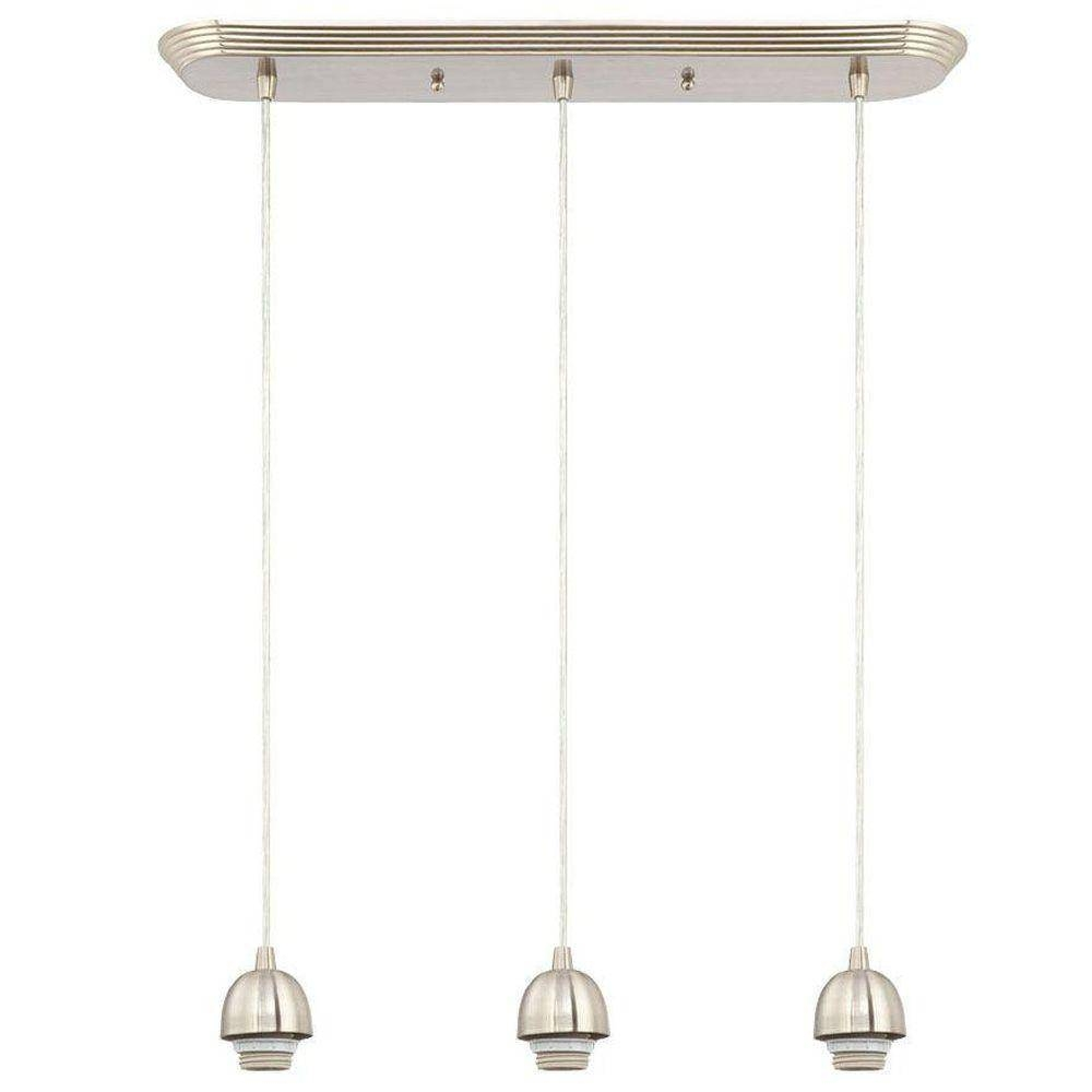 Westinghouse 3-Light Brushed Nickel Adjustable Mini Pendant pertaining to 3 Lights Pendant Fitter (Image 15 of 15)