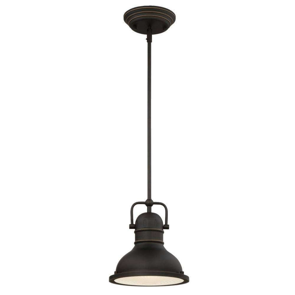 Westinghouse Boswell 1-Light Oil-Rubbed Bronze With Highlights Led pertaining to Oil Rubbed Bronze Mini Pendant Lights (Image 15 of 15)