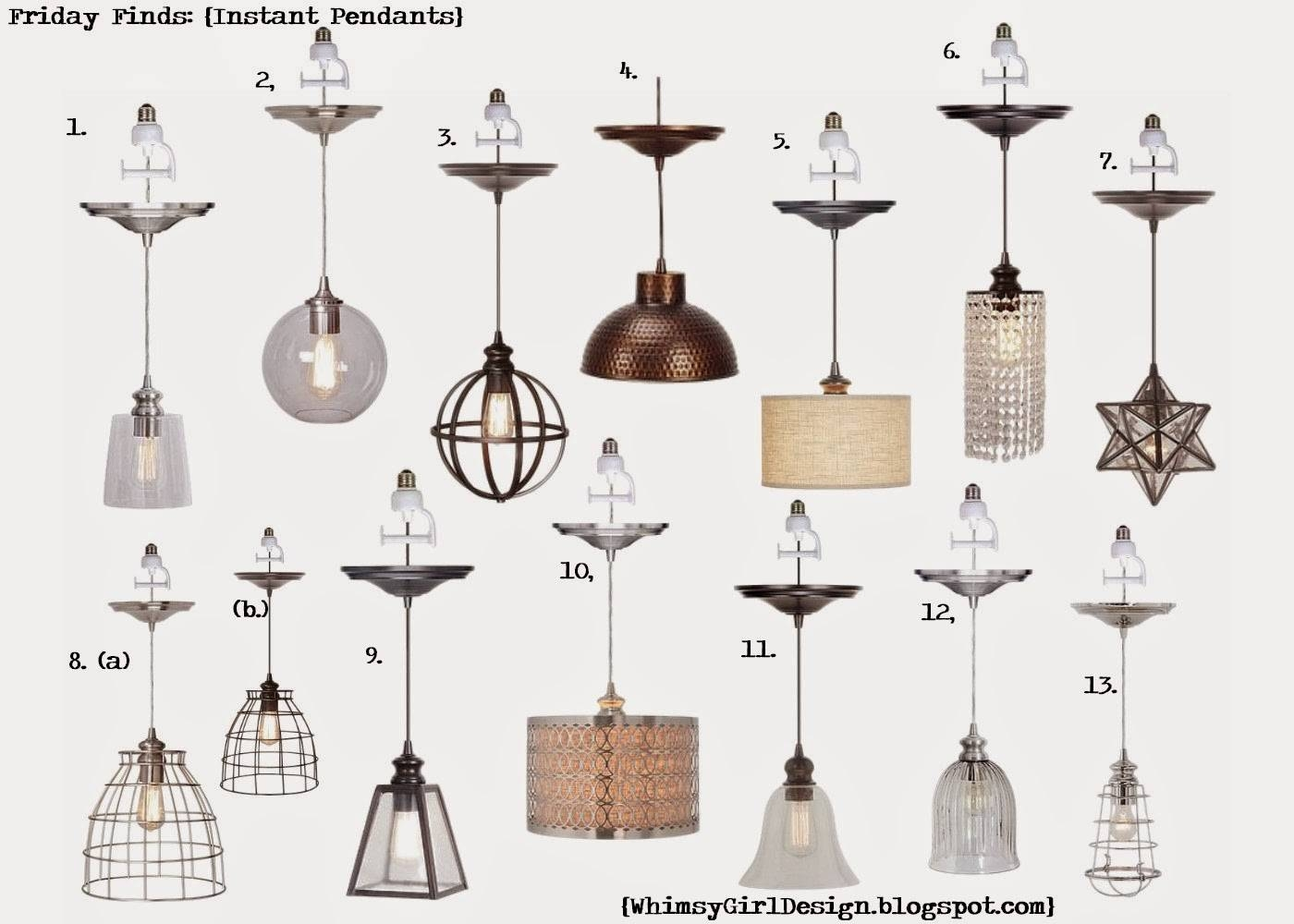 Whimsy Girl: Friday Finds: {Recessed Lighting Conversion Pendants} with regard to Instant Pendants (Image 11 of 15)