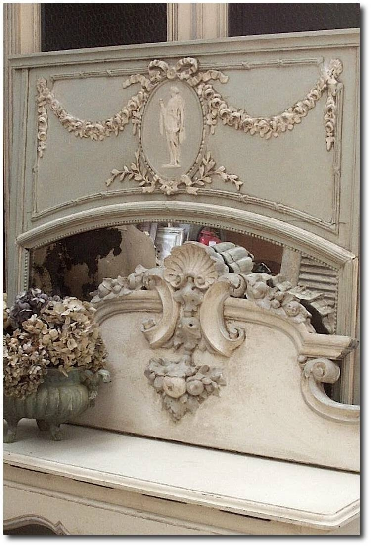 White And Cream French Furniture regarding Antique French Mirrors (Image 15 of 15)