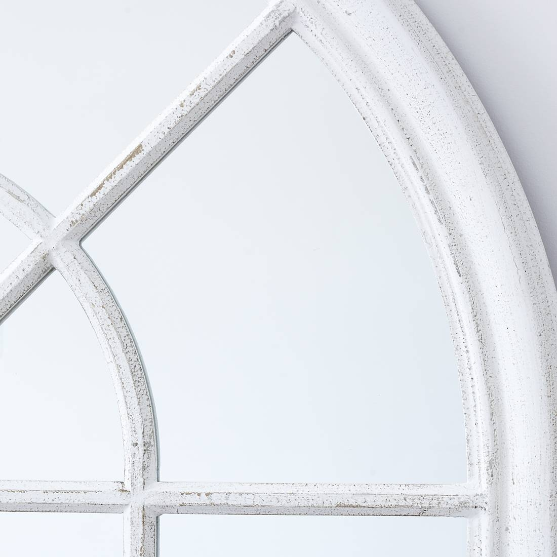 White Arched Window Wall Mirror – Primrose & Plum Throughout White Arch Mirrors (View 12 of 15)