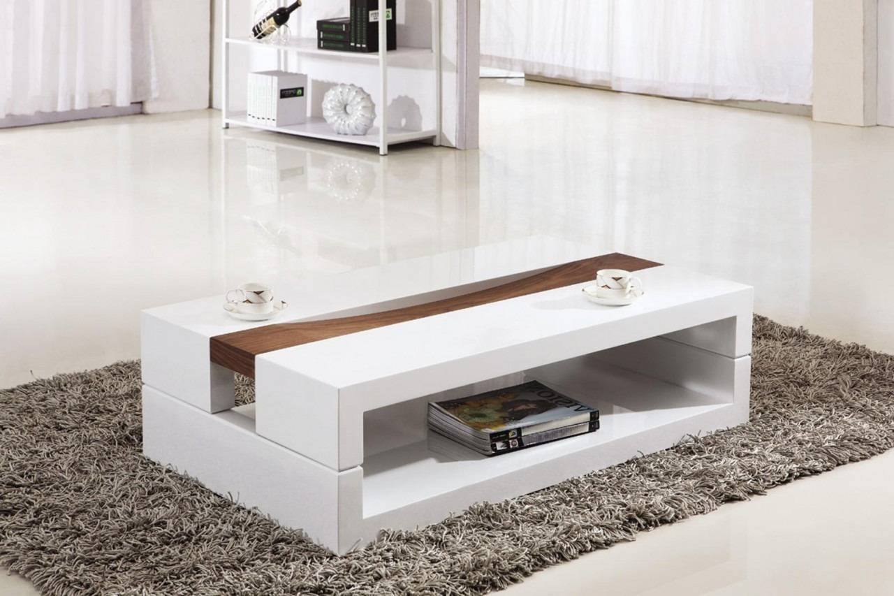 White Coffee Table. Awesome Modern Coffee Table With Storage throughout Modern Coffee Tables With Storage (Image 15 of 15)