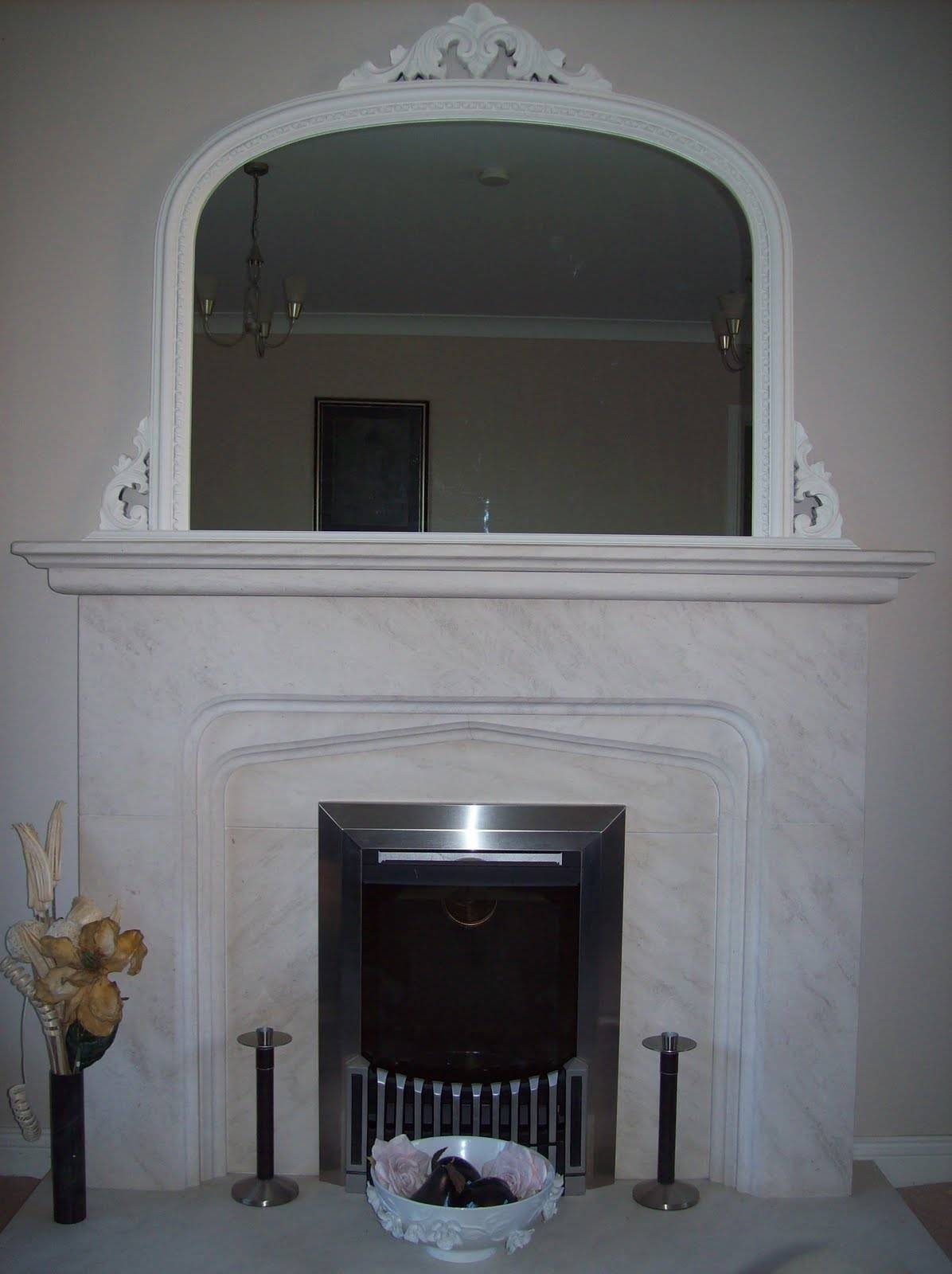 White Ornate Overmantle Mirror For White Overmantle Mirrors (View 11 of 15)