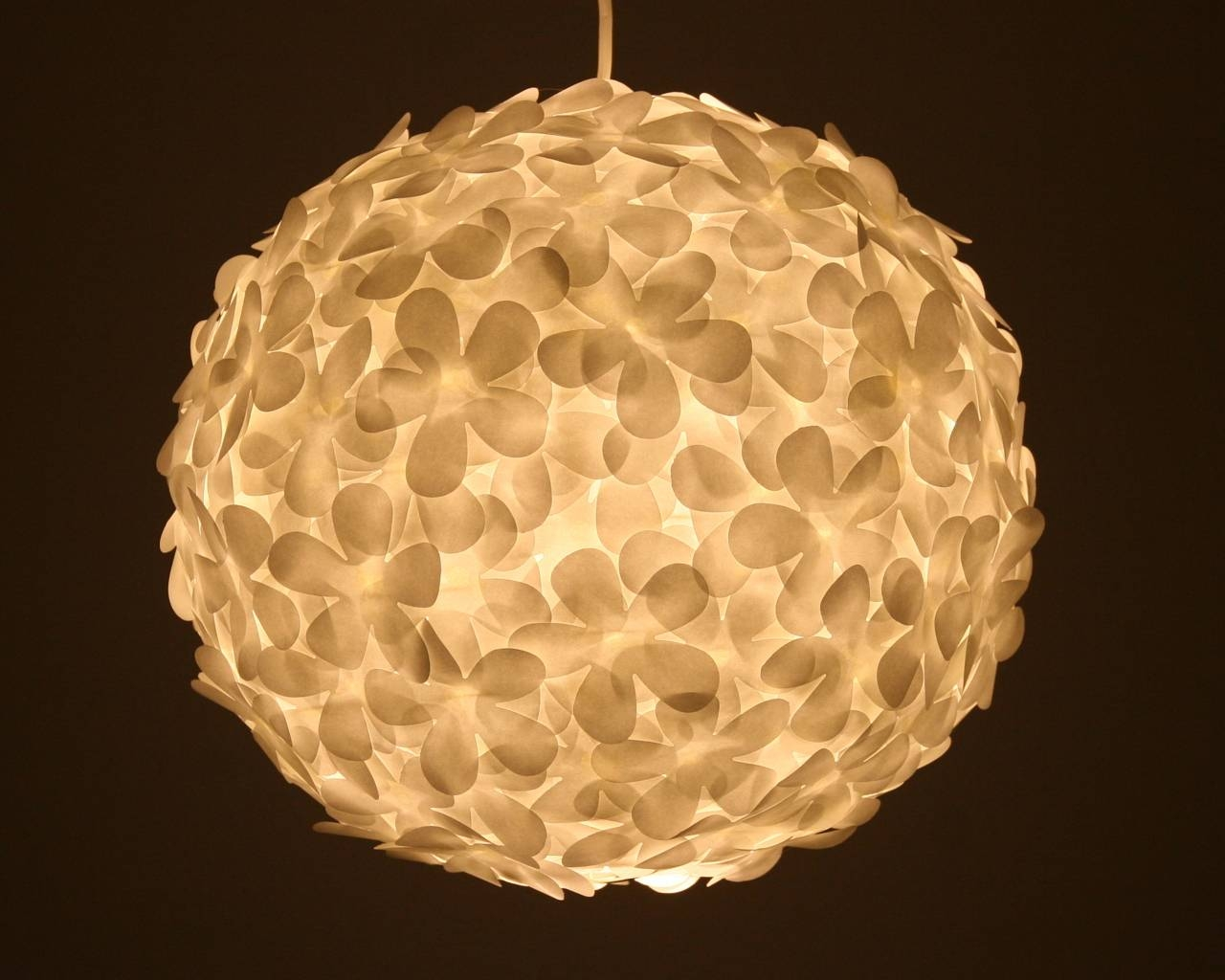 White Paper Flower Pendant Light | The 3 R's Blog in White Flower Pendant Lights (Image 13 of 15)