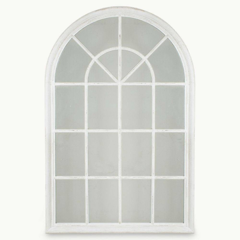White Window Pane Mirror 135 Awesome Exterior With Arched Mirrored Intended For White Arch Mirrors (View 6 of 15)
