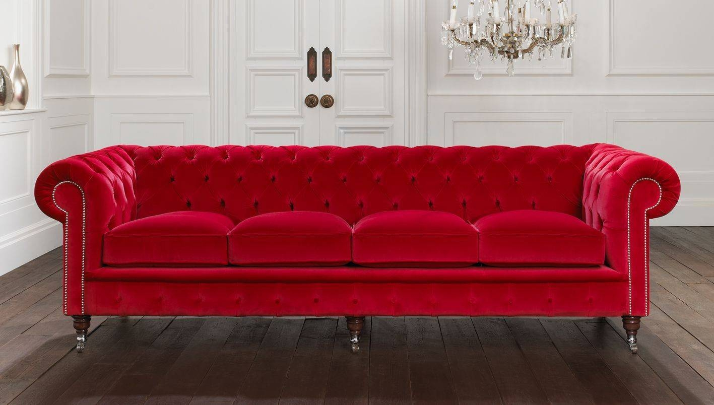 Why Choose A Velvet Chesterfield Sofa? Pertaining To Red Leather Chesterfield Sofas (View 15 of 15)