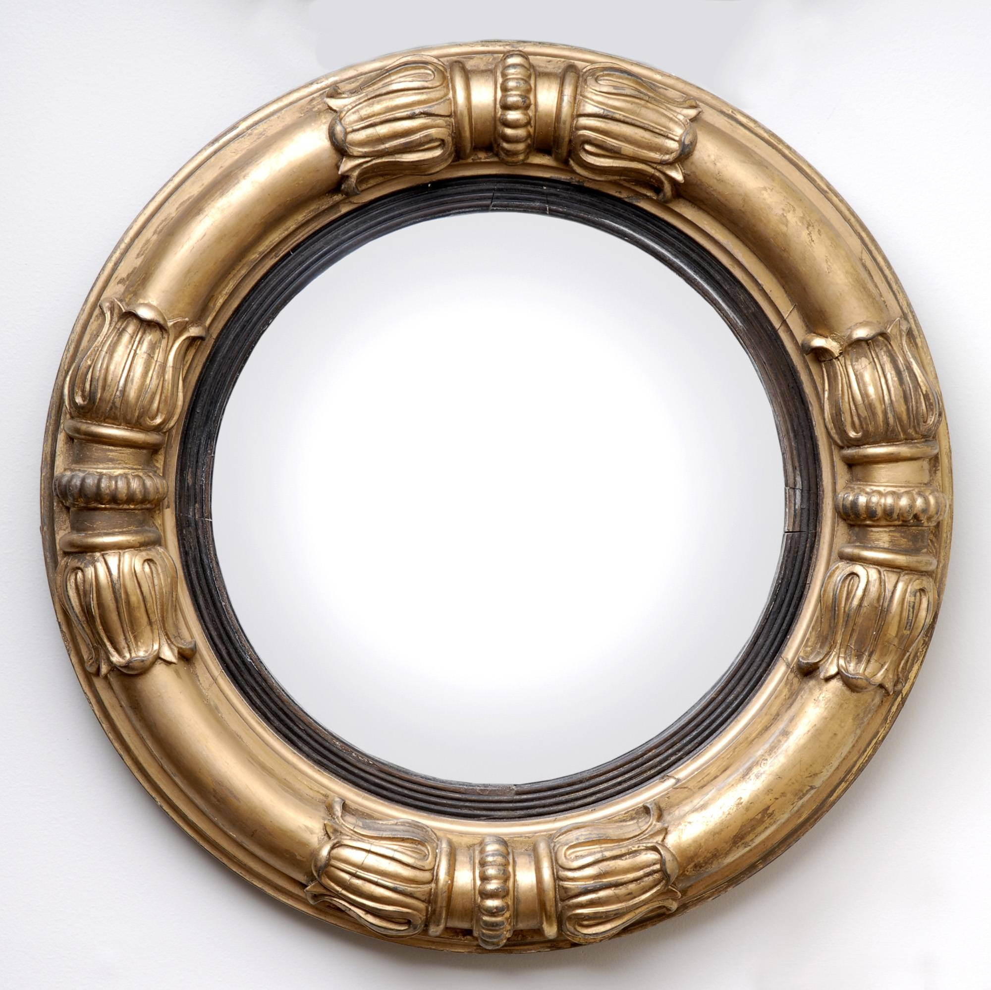 William Iv Giltwood Convex Mirror | Antique English Convex Mirror inside Antique Convex Mirrors (Image 15 of 15)