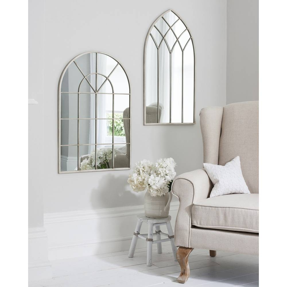 Window Mirror: Roebuck Arched Window Mirror | Select Mirrors Pertaining To White Arch Mirrors (View 14 of 15)
