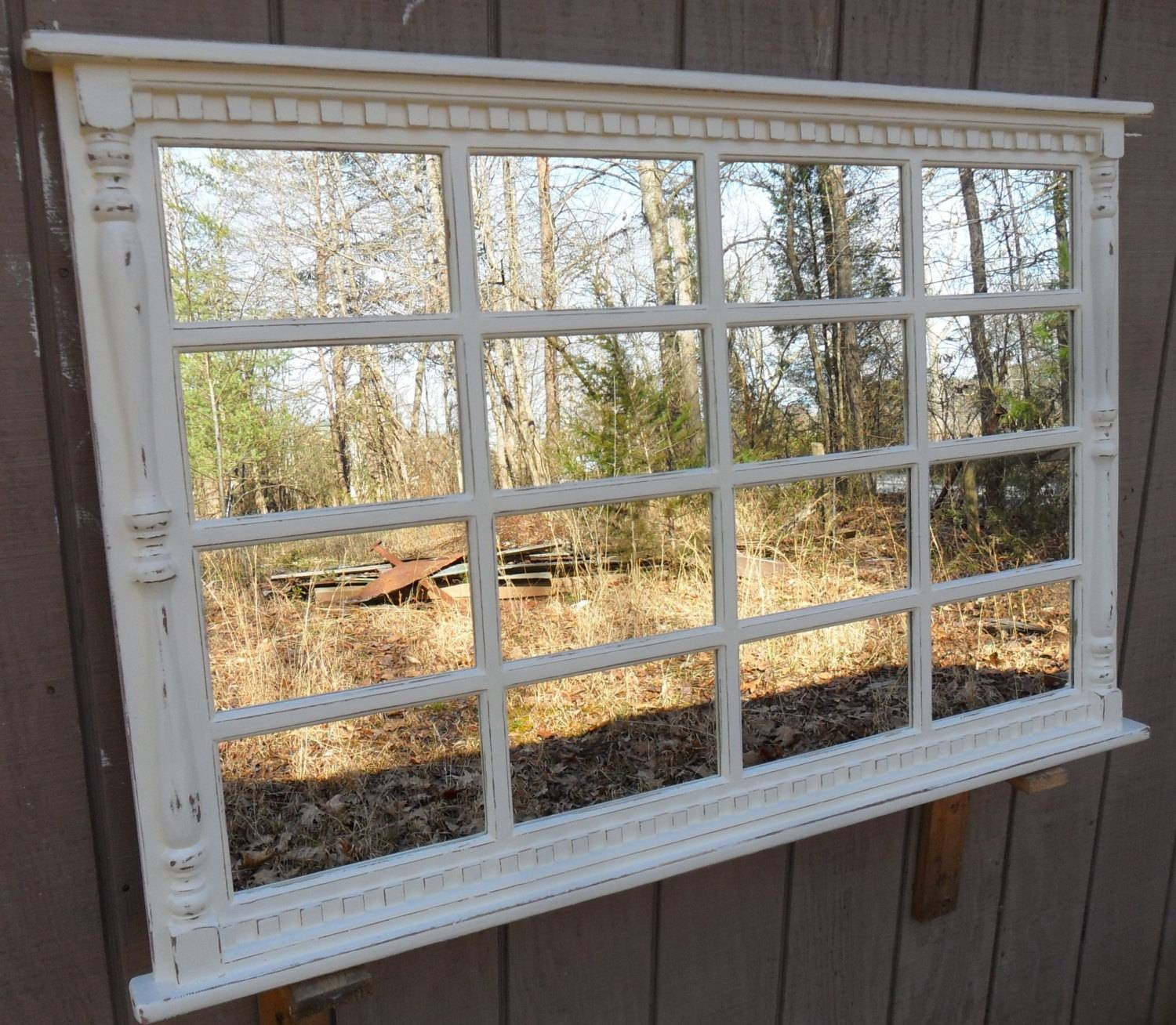 Window Mirror White Window Mirror White Mirror Wall for Distressed Cream Mirrors (Image 15 of 15)