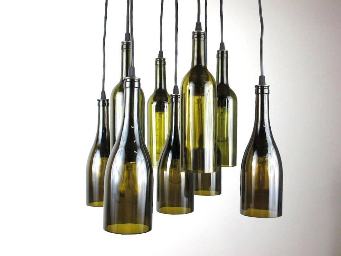Wine Bottle Light Fixture | Lv Designs inside Wine Glass Lights Fixtures (Image 13 of 15)