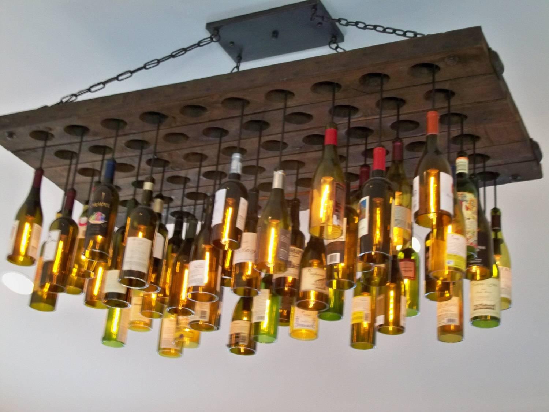 Wine Bottle Light Fixtures - Home And Interior regarding Wine Glass Lights Fixtures (Image 15 of 15)