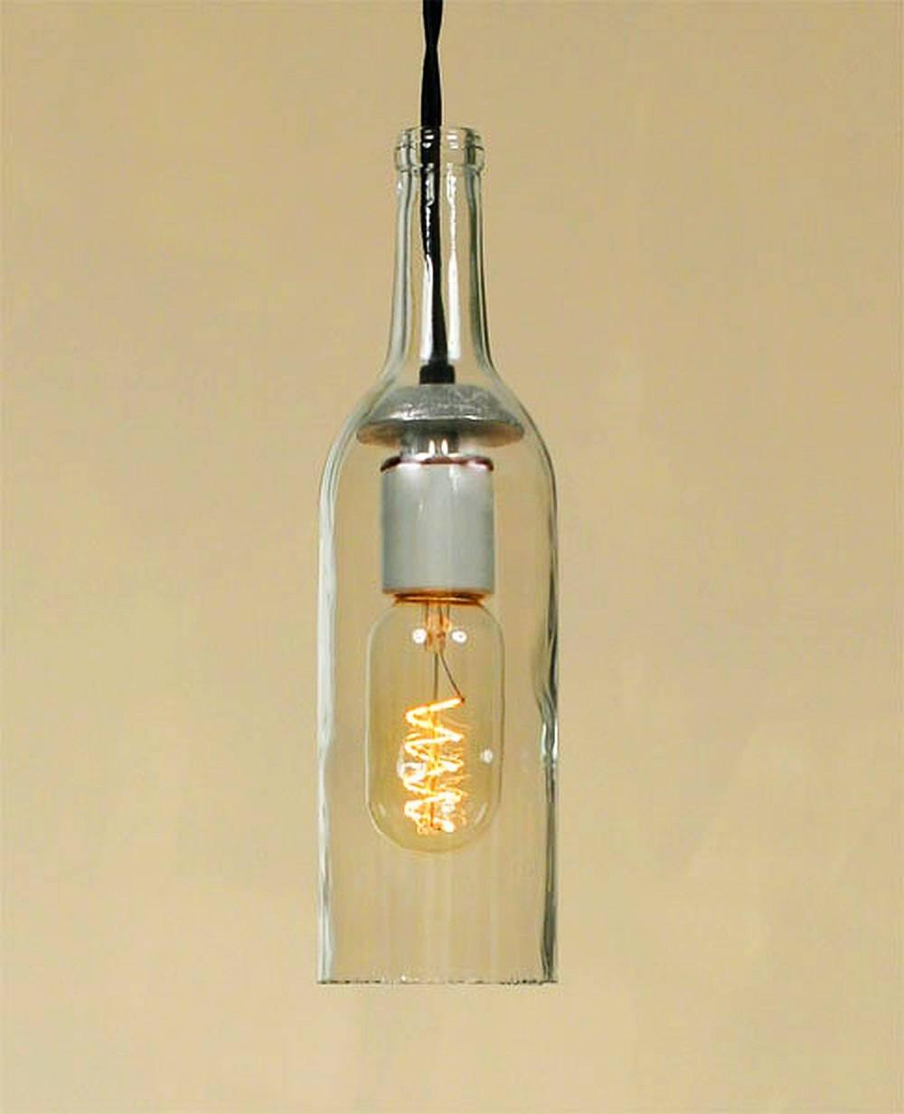 Wine Bottle Pendant Light Kit #11123 for Wine Bottle Pendants (Image 15 of 15)
