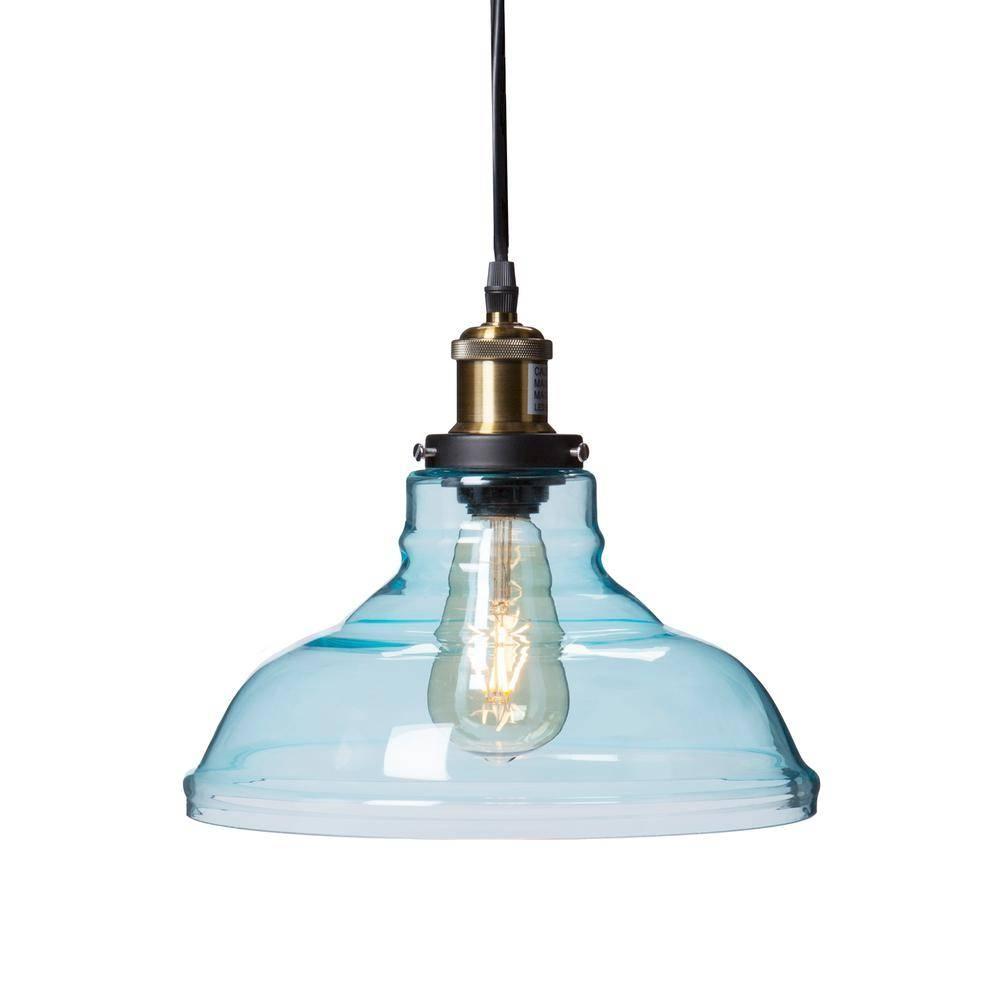 Witten 1-Light Soft Aqua Colored Glass Pendant Lamp-Hd88265 - The with Colored Glass Pendant Lights (Image 15 of 15)