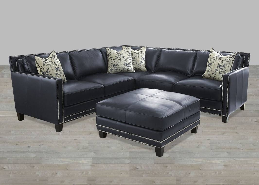 Wonderful Navy Blue Leather Sectional Sofa 91 In Cindy Crawford regarding Cindy Crawford Leather Sectional Sofas (Image 14 of 15)