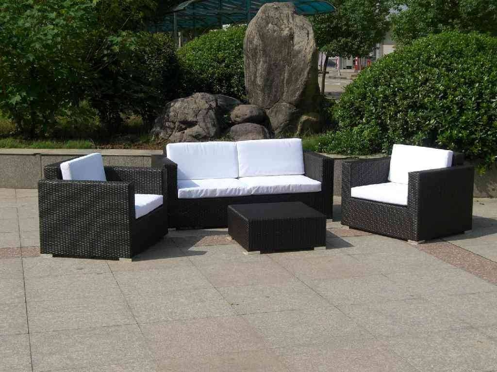 Wonderful Outdoor Wicker Patio Furniture | All Home Decorations Inside Black Wicker Sofas (View 15 of 15)