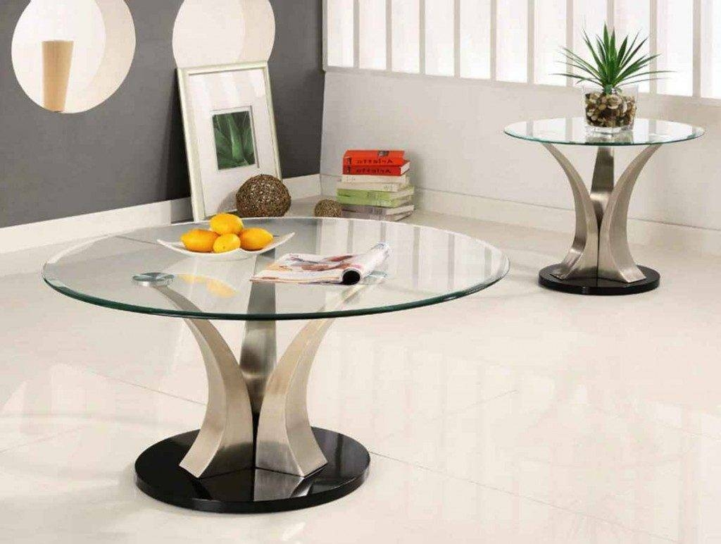 Wonderful Small Round Glass Coffee Table Design. Home Furniture inside Thick Glass Coffee Table (Image 14 of 15)