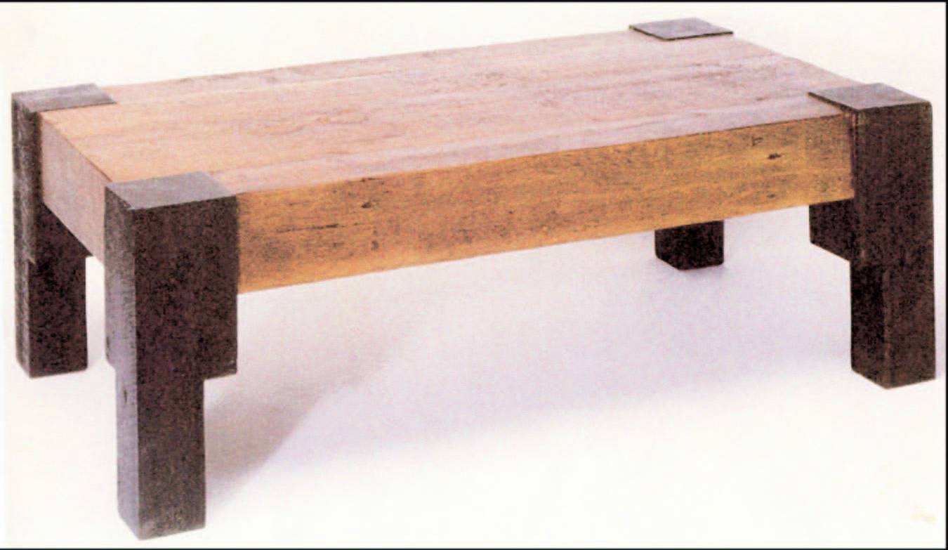 Wood Coffee Table. Salvaged Wood Coffee Table Popular Square pertaining to Wooden Coffee Tables (Image 12 of 15)