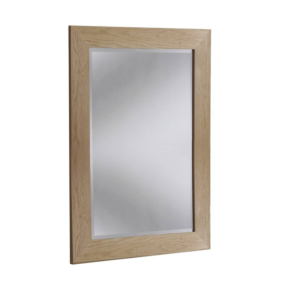Wood Mirror: Preston Solid Oak Wall Mirrors regarding Oak Mirrors (Image 15 of 15)