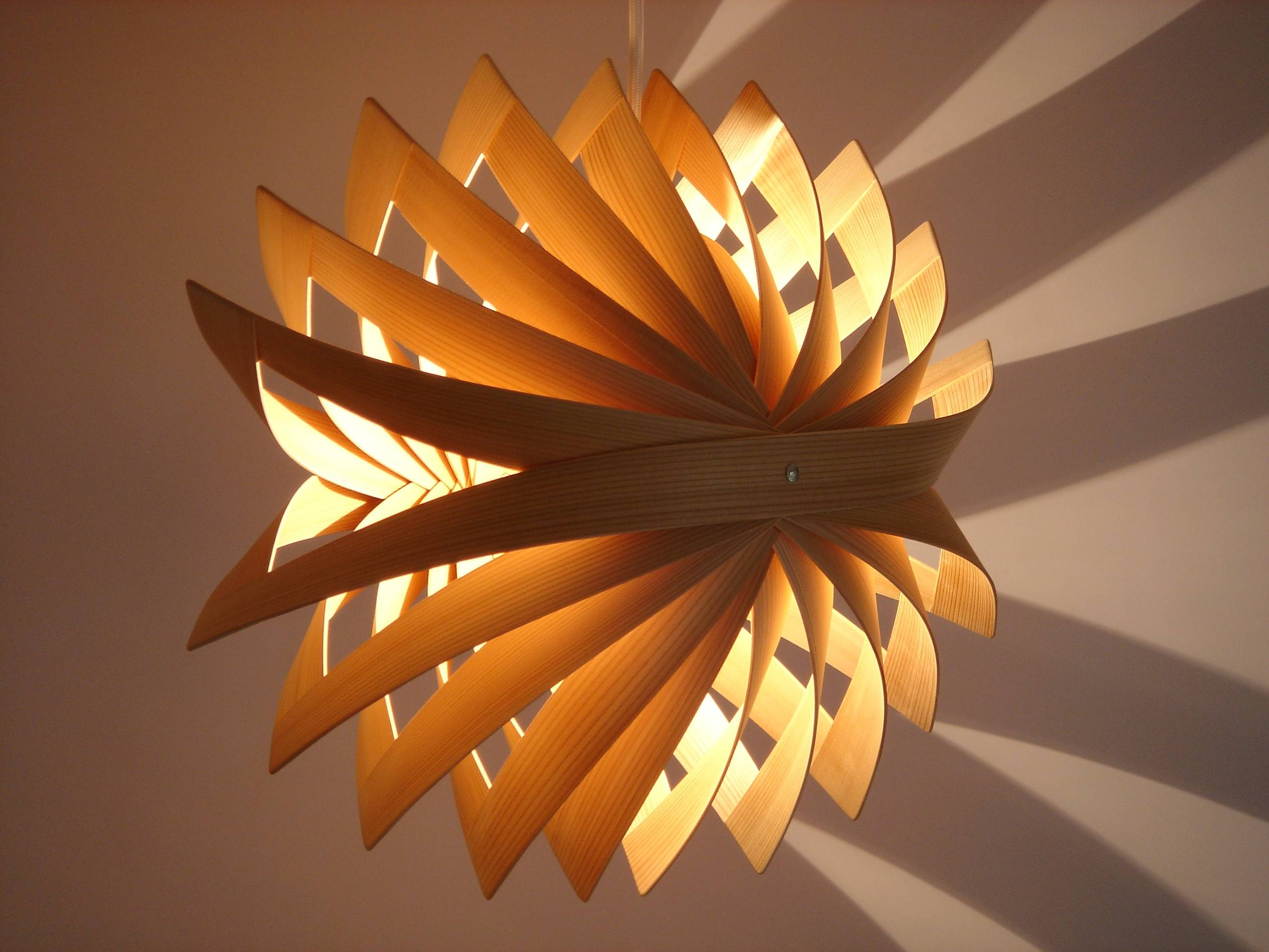 Wood Veneer Pendant Light #9965 within Wood Veneer Pendant Lights (Image 15 of 15)