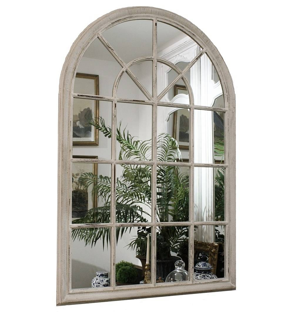 Wooden Arch White Painted Mirror – Simply Wedding Gifts Regarding White Arch Mirrors (View 2 of 15)