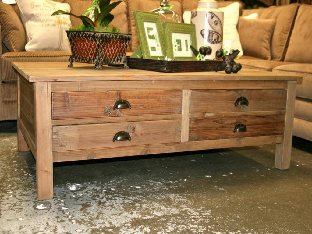 Wooden Coffee Tables With Drawers – Amazing Home Design With Regard To Square Coffee Table With Storage Drawers (View 15 of 15)