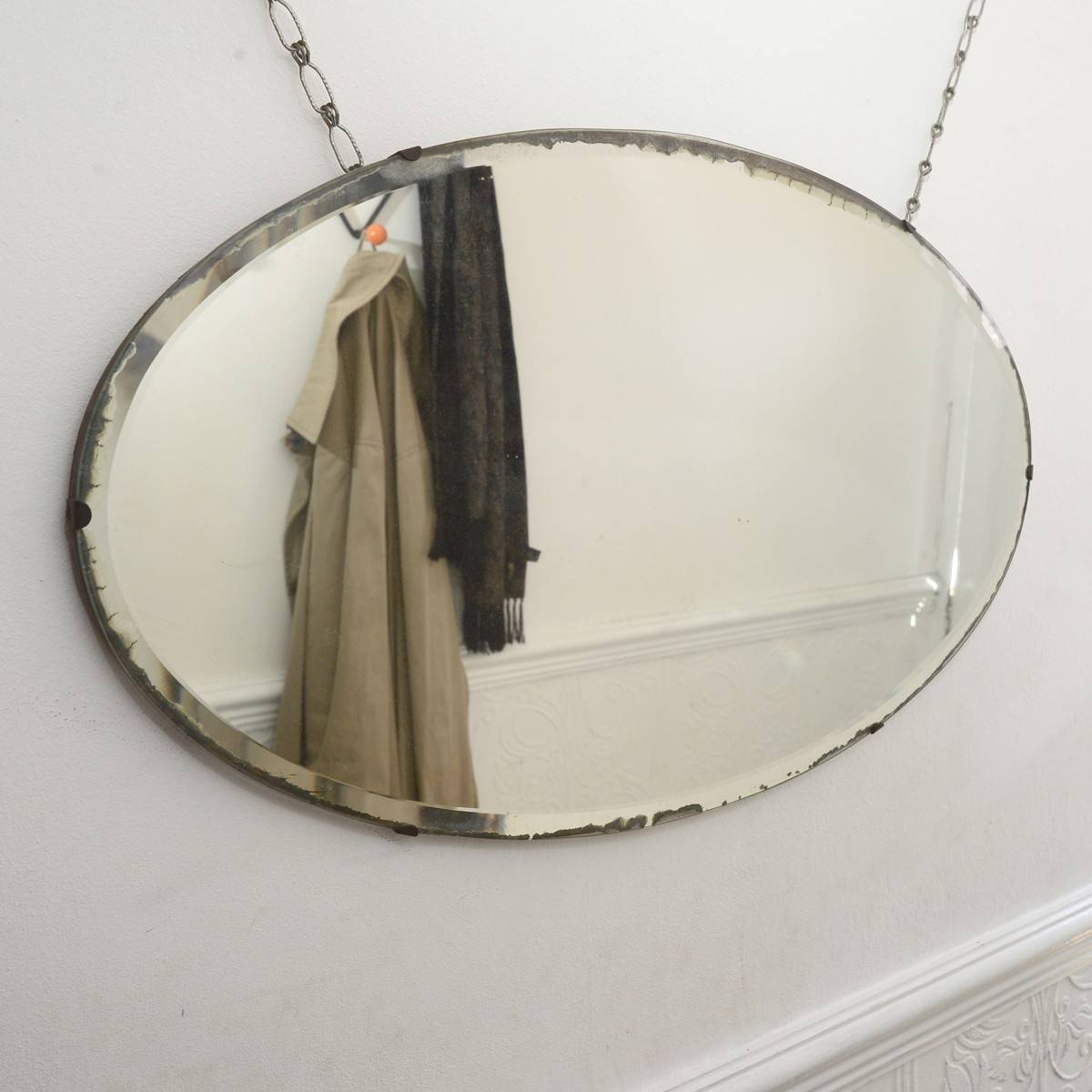 Wooden Framed Painted Vintage Mirror Pedlars in Vintage Frameless Mirrors (Image 15 of 15)
