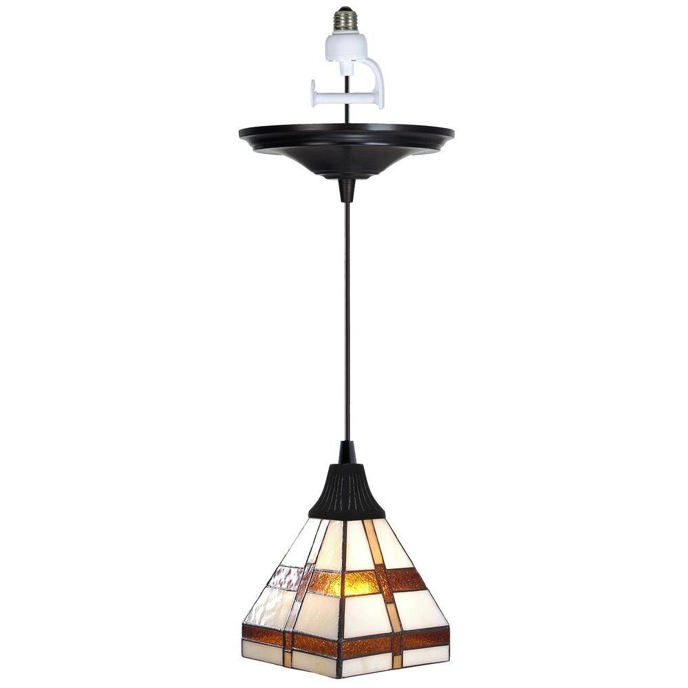 Worth Home Products Instant Pendant Series 1-Light Antique Bronze throughout Instant Pendant Lights (Image 9 of 15)