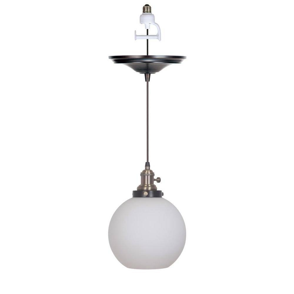 Worth Home Products Instant Pendant Series 1-Light Brushed Bronze in Instant Pendant Lights (Image 11 of 15)