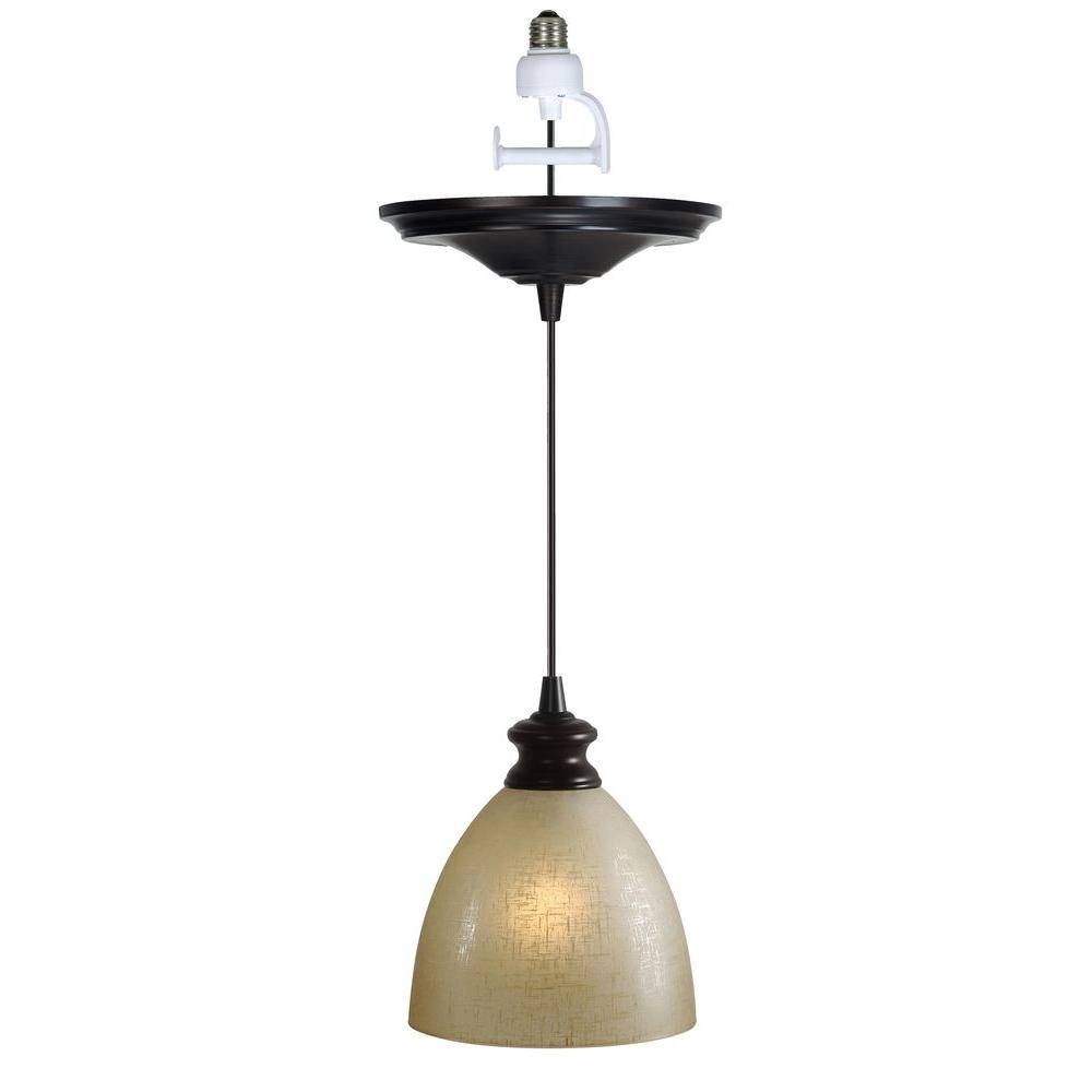 Worth Home Products Instant Pendant Series 1 Light Brushed Bronze Throughout Recessed Lights Pendants (View 8 of 15)