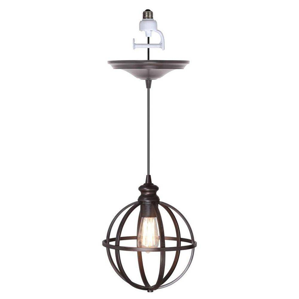 Worth Home Products Instant Pendant Series 1-Light Brushed Bronze with Instant Pendants (Image 13 of 15)