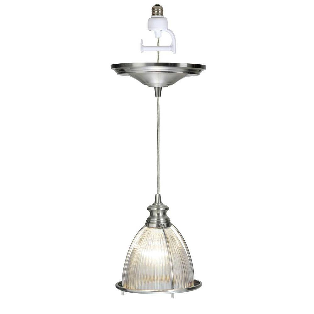 Worth Home Products Instant Pendant Series 1 Light Brushed Nickel Intended For Pendant Lights Conversion Kits (View 8 of 15)