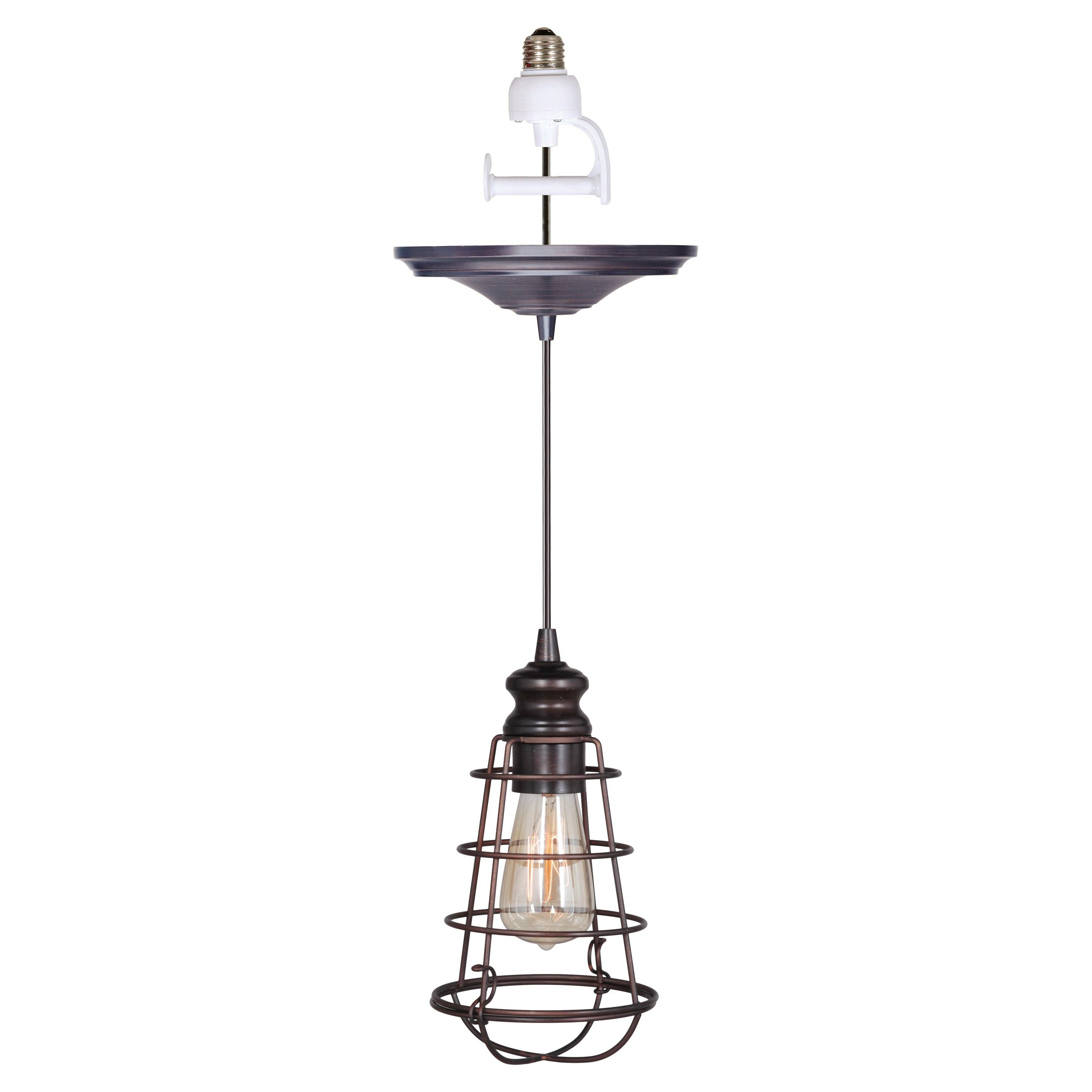 Worth Home Products Instant Screw In Pendant Light With Clear Intended For Screw In Pendant Lights Fixtures (View 14 of 15)