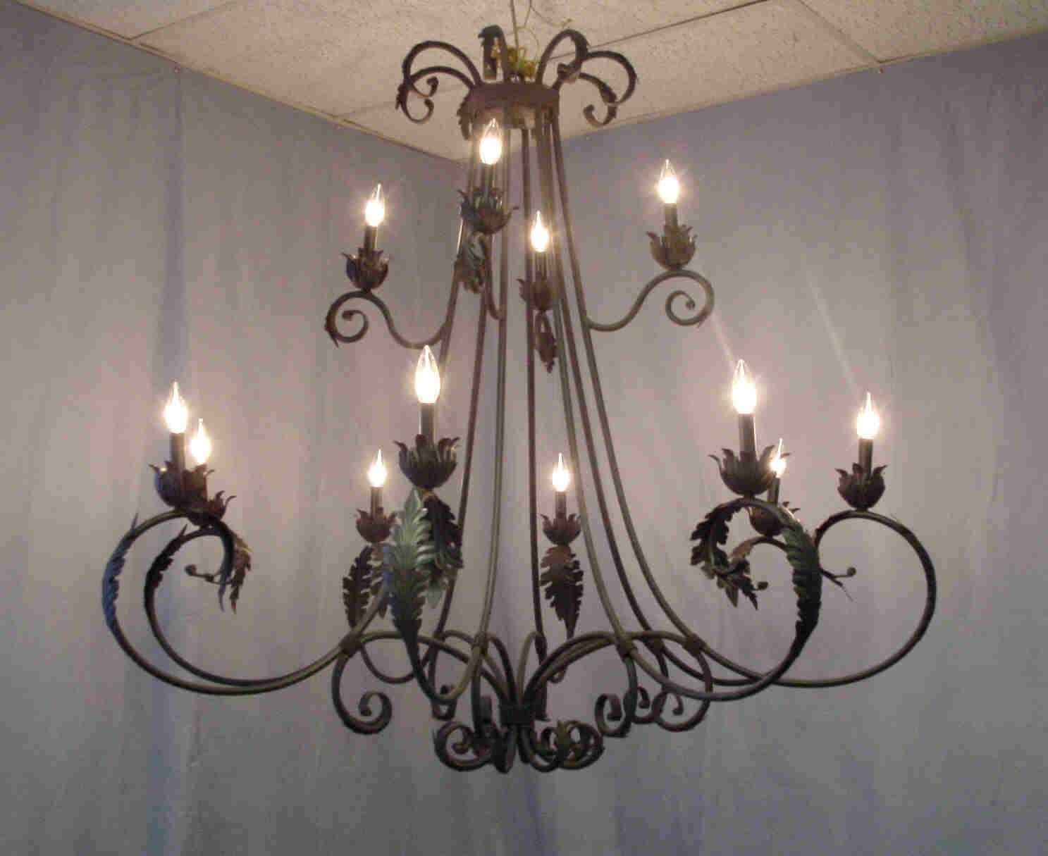 Wrought Iron Chandelier. Chandelier Terrific Wrought Iron Crystal for Wrought Iron Lights Fixtures for Kitchens (Image 10 of 15)