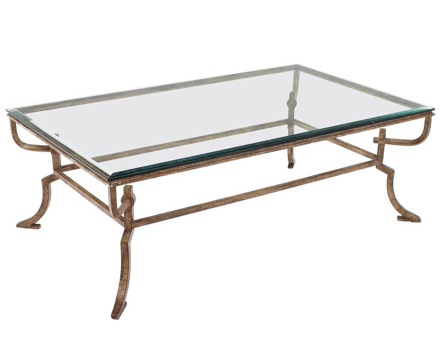 Wrought Iron Coffee Table With Glass And Wooden Round Intended For Iron Glass Coffee Table (View 14 of 15)