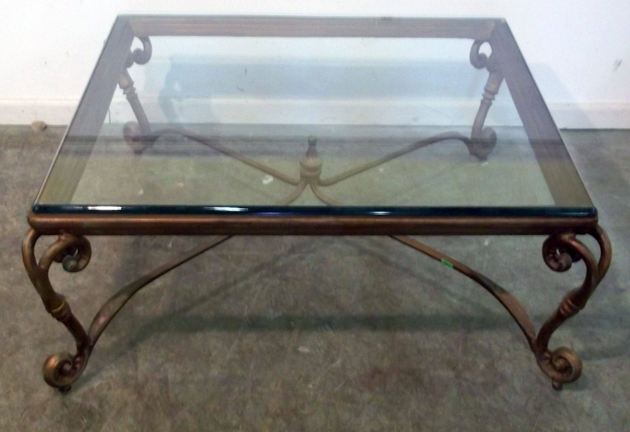 15 Best Collection of Iron Glass Coffee Table
