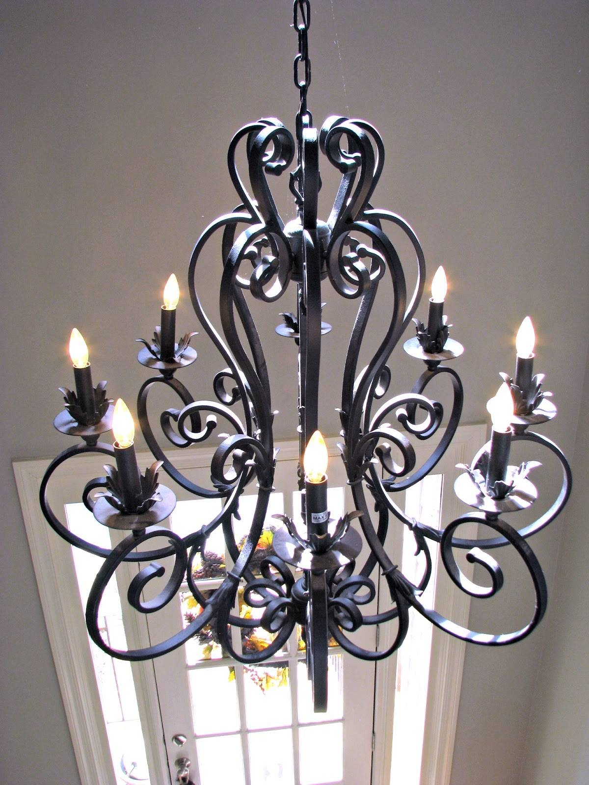 Wrought Iron Lighting Fixtures | Roselawnlutheran for Wrought Iron Lights Fixtures For Kitchens (Image 13 of 15)